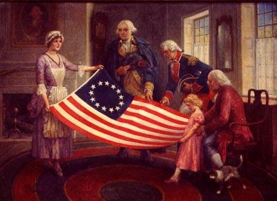 De eerste Amerikaanse vlag