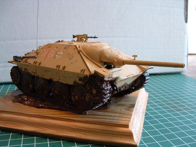 Jagdpanzer 38 (t) Hetzer tank destroyer. Modelbouw door Eric de Graaf.
