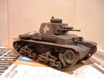 Model van de LT vz 35 tank