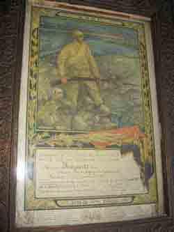 Oorkonde bij de Yser medaille 1914-1915