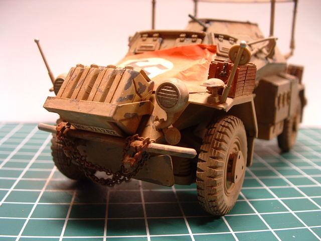 Sd. Kfz 223 FU verkennings / communicatie voertuig. Modelbouw door Eric de Graaf.