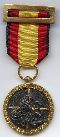 Spaanse Campagne medaille - Voorkant