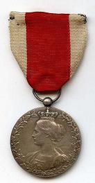 Bonen medaille - Zilver - Voorkant
