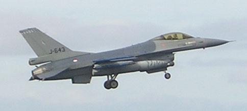 F16 Fighting Falcon te Leeuwarden