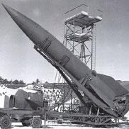 V-2 raket op lanceerstelling