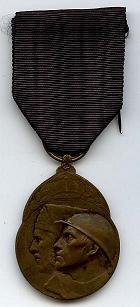 Medaille van de vrijwillige strijder 1914-1918 - Voorkant